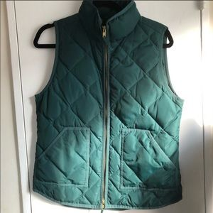 J.Crew Forest Green Quilted Vest